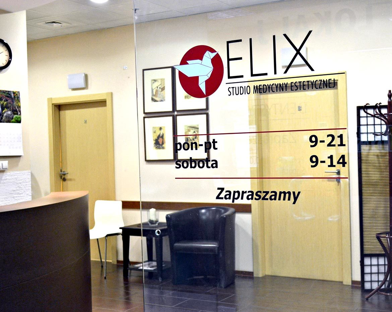 Studio medycyny estetycznej Elix - wejście